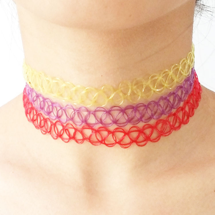 12-shine-colors-Handmade-Hot-Selling-Vintage-Stretch-Tattoo-font-b-Choker-b-font-Necklace-Gothic