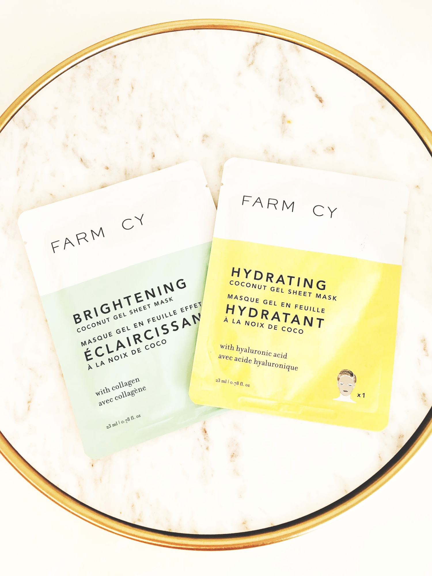 Farmacy Brightening and Hydrating Coconut Gel Masks