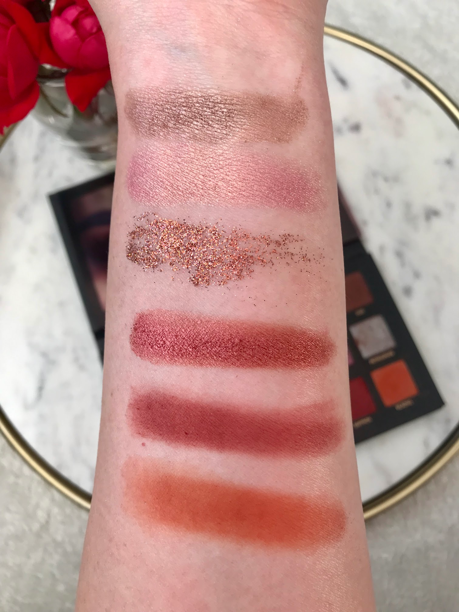 Sweet Tea & Hydrangeas Huda Beauty Swatches